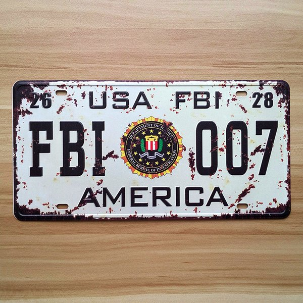 Wanted Black White Wholesale Novelty License Plate Bar Wall Decor