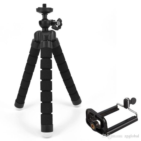 2 pcs Flexível Tripé Titular Para Câmera Do Carro Do Telefone Celular Gopro Universal Mini Octopus Esponja Suporte Suporte Selfie Monopé Com Montagem Clipe