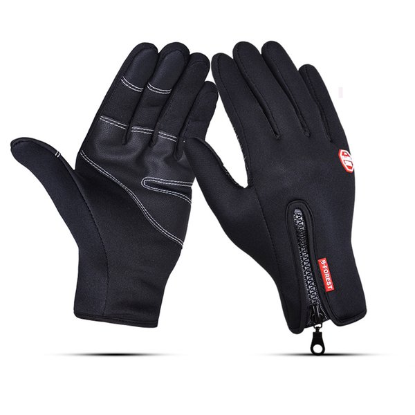 A pair Windproof sports touch screen glove cycling all means gloves warm fleece grip ski touch control