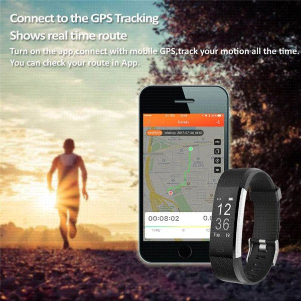 Pulsometer Fitness Watch Smart Bracelet GPS Smart Band Activity Tracker Pedometer Smart Watch Vibrating Alarm Clock For xiomi