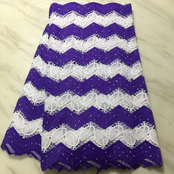 ¡Envío gratis! encaje de guipur de alta calidad / telas de encaje nigeriano / tela de encaje africano soluble en agua para el vestido de boda F16A073