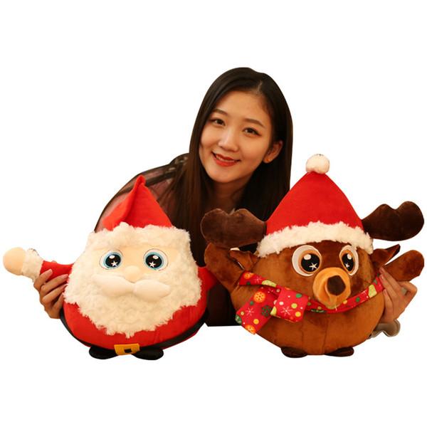 Noel Oyuncaklar Çocuklar Yastık Noel Baba Elk Bebek Oyuncak Süsler Dekorasyon Nefis Ev Noel Için Mutlu Yeni Yıl Çocuk Bebek Yumuşak Hediye