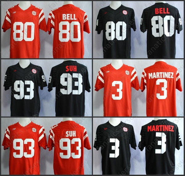 buy popular 09688 05ae7 2018 Nebraska Huskers Jersey Ncaa College Football 80 Kenny Bell 93  Ndamukong Suh 3 Taylor Martinez Big Discount Jersey Big Discount From  Fanatics02, ...