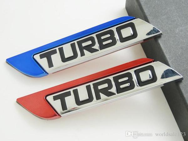 3D металл турбо с турбонаддувом автомобиль наклейка логотип эмблема знак отличительные знаки стайлинга автомобилей DIY украшения аксессуары для фрод Bmw Ford