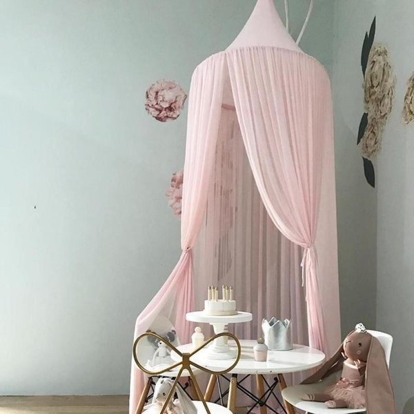 Children's Bed Canopy Curtain Hanging Mosquito Nets For Adult Kids Beds Mosquitera Baby Girls Room Decor Nordic Dossel S3