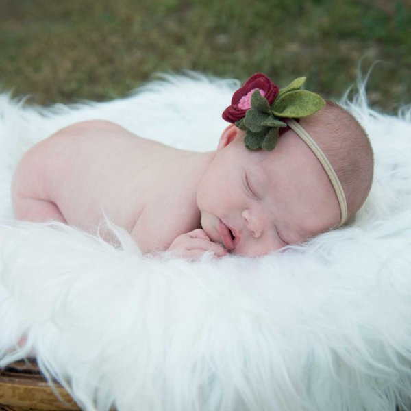 Neugeborene Fotografie Kulissen-Pelz-Babydecken Kinder Basket Filler Stuffer Bettwäsche Set 50 * 60 cm 10 Farben für Großverkauf