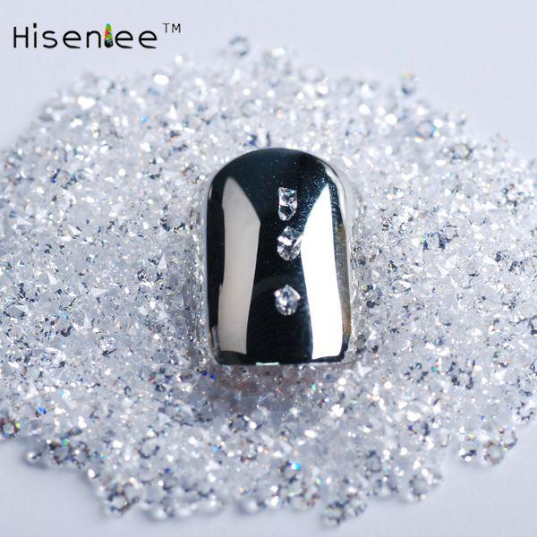 High quality 1.1mm 2880pcs clear transparent crystal rhinestone 3D irregular shape rhinestone nail art decoration