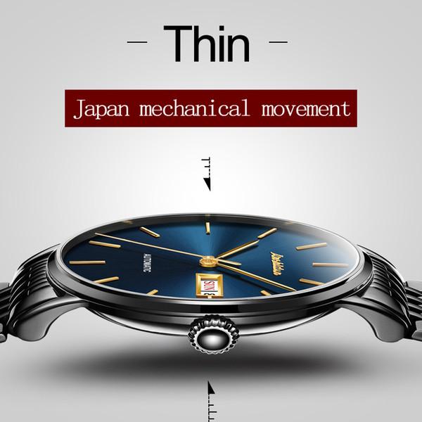 JSDUN Mens Sport Automatic Mechanical Full Steel Watches Top Brand Luxury relojes hombre Clock Men Wrist Watch Relogio Masculino