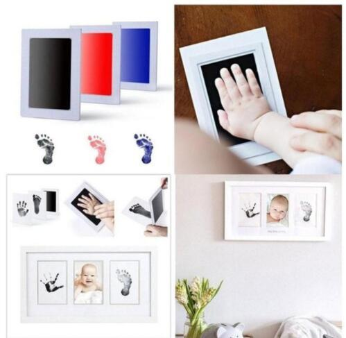 Photo Frame Kit Newborn Baby Handprint and Footprint with Clean Touch Ink Pad -child Hand Inkpad hand-foot stamp pad KKA5716