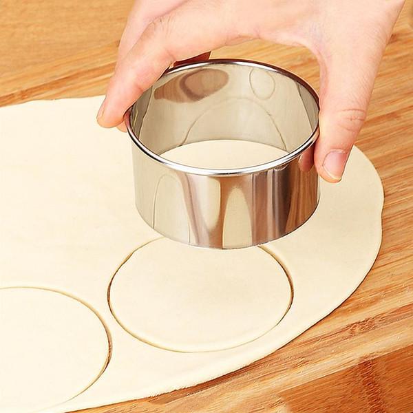 Moldes de bolas de masa hervida de acero inoxidable conjunto envoltorios redondos herramientas del cortador de la pasta de masa de pastelería herramienta de corte 3pcs / set
