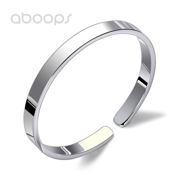 58ac5246b269ca Jewelry ; Bracelets ; Bangle ;. Plain Solid 999 Sterling Silver Personalized  Bangle Bracelet for Women Girls 10 mm Free Shipping