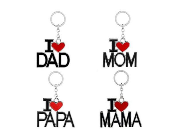 Acheter Jaime Papa Maman Maman Papa Porte Clés Lettre Coeur Rouge Amour Porte Clés Bagues Bijoux De Mode Pour Mère Père Cadeau J102 De 051 Du