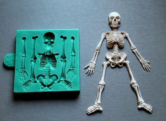 Esqueleto de Halloween Moldes De Silicone Bolo Decoração ferramentas Fondant molde do bolo
