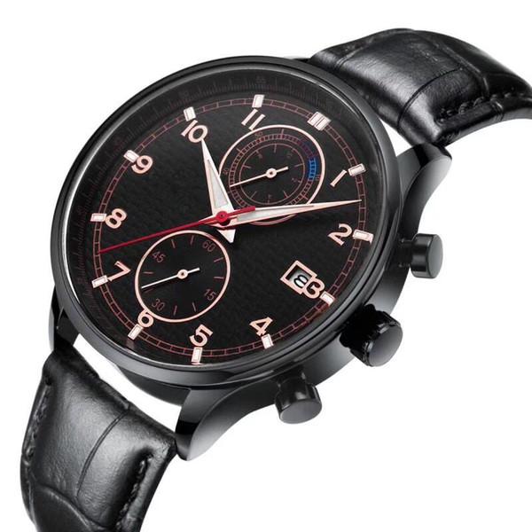 All Subdials Works Relojes de pulsera de cuarzo de acero inoxidable AAA para hombre Cronómetro reloj de lujo Top Relogies de marca para hombres relojes Mejor regalo