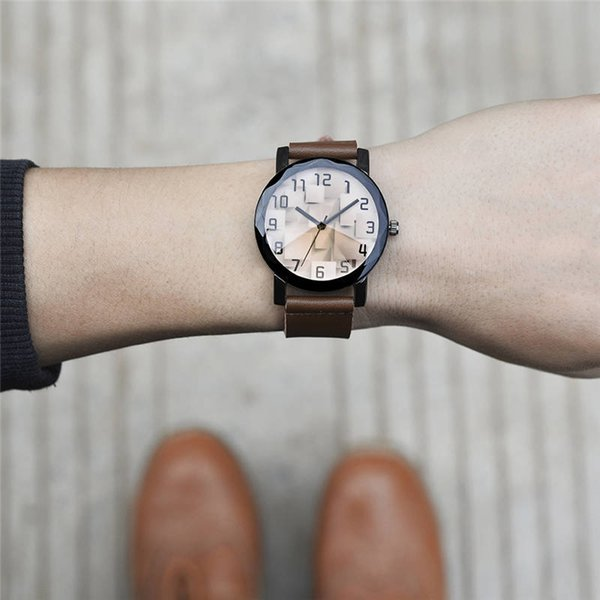 SOKI new cross border electricity supplier creative multi faceted leisure men sports leather watch fast sell WISH explosive money