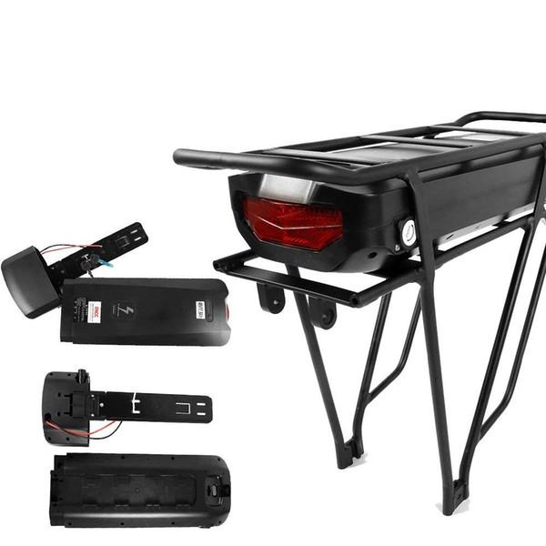 Bici elettrica 48V 17.5Ah o 36V 22.5Ah batteria a pacco posteriore per caricabatteria per biciclette di grande capacità e-bike