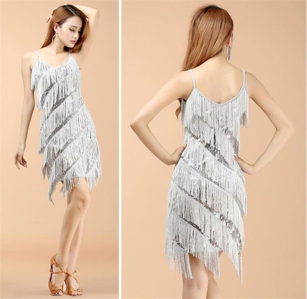 Woman 1920s Vintage Great Gatsby Party Sequin Dress Sexy V-Neck Summer Cami Dress Gold Fringe Dress Vestidos Flapper Costumes