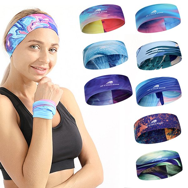 Yoga Fitness Bande Antisudorifique Course De Plein Air Alpinisme Movemenf foulard Bande De Cheveux Fashion Turban
