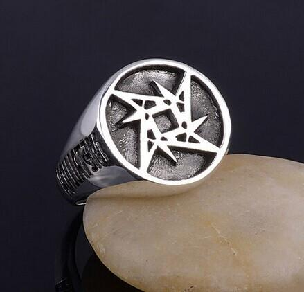 Hot sale heavy metal band rock bronze silver ring for men punk hip hop fashion accessories jewelry