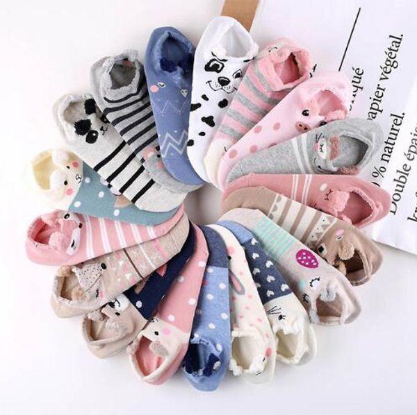 Comfortable Animal Ear Socks 18 Patterns Lovely Women Short Socks Fashion Soft Cotton Ankle Socks Drop Shipping