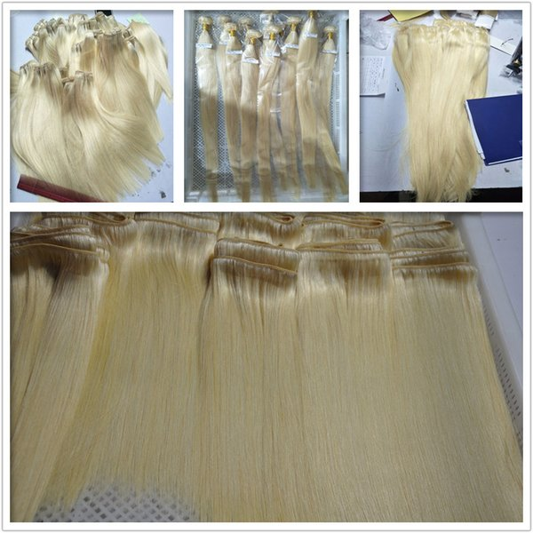 Elibess Brand Blonde Color 613# Silk Straight Wave Human Hair Bundles 6Pcs Lot Peruvian Virgin Human Hair Weaves Extensions Fast Delivery