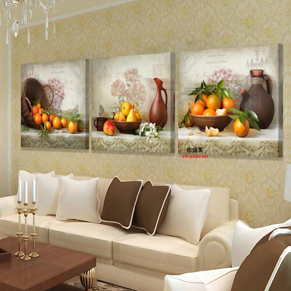 3 Stück Leinwand Küche Obst Bilder Drucken Öl Wandmalereien Moderne Malerei  Auf Kunst Modulare Bild Cuadros