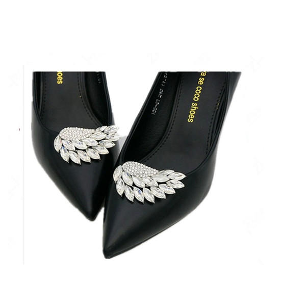 Fashion Flower Crystal Shoe Buckle clip Women High Heels Wedding Bride Silver Color Crystal Shoes Jewelry Accessories