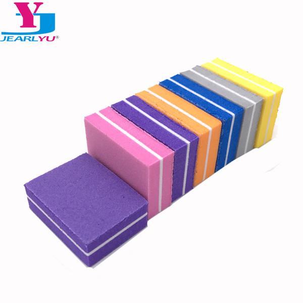 Tools Files 10Pcs Mini File Block Double Side Nail Files Buffer 100/180 Lime a Ongle Nail Art Tools Washable