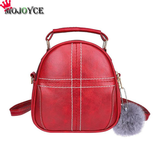 3-way using Mini Women Vintage Girls PU Leather Shoulder Backpack Casual Mini School Backpack Mochilas Mujer 2018