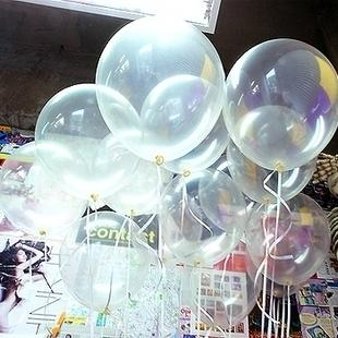 12Inch Transparent Latex Balloons Clear Balls Toys Wedding Photos Decorations Helium Party Supplies