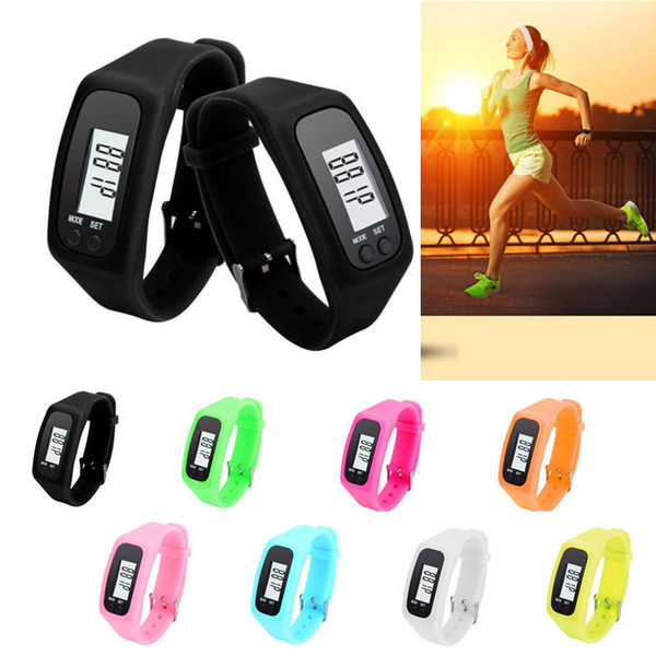 Hot Smart Bracelet Pedometer Wristband Fitness Tracker Step Calorie Counter Walking Distance Alarm Monitor-Improved Wholesale