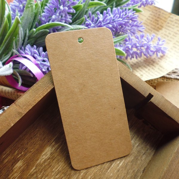 100pcs 78x39mm Kraft Paper Tag Blank Gift Tag , Wedding Gift Tags, Party Tags Cards,Price Label, Hemp String Included