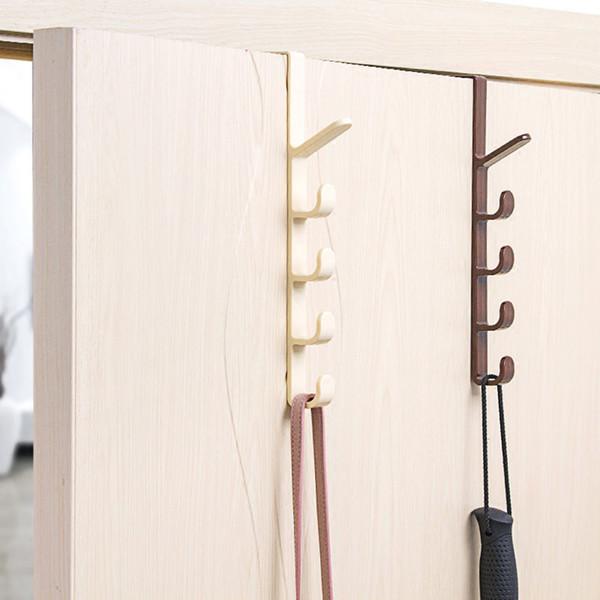 Door Hanger Hook Clothes Storage Holder Plastic Hanging Rack Home Organizer Hooks Rails Bedroom Dress Bag Hanging Hooks Hot Sale