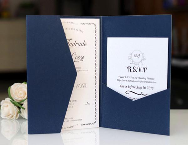 Compre Invitación De Bolsillo Sólida Envleop Invitación En Blanco Doble Tamaño Personalizado Proporcionado Por El Fabricante De La Tarjeta De Boda