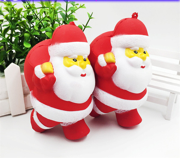 DHL Free Brand New Santa Claus Squishy Slow Rising Christmas Gift Cell Phone Charms Straps Jumbo Foam Santa Claus Slow Rising Toys