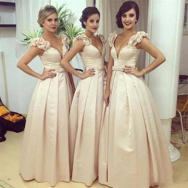 03f7e43ff2e Compre Vestidos Elegantes Para Damas De Honor De A Line Árabe