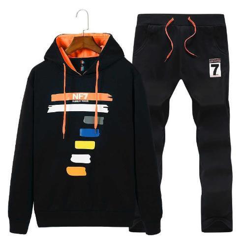 Mens Hoodies Set Spring Windproof Sport Suit New Geometric Pattern Autumn Warm Gym Tracksuit Fitness Sportswear Running Set Kids sets