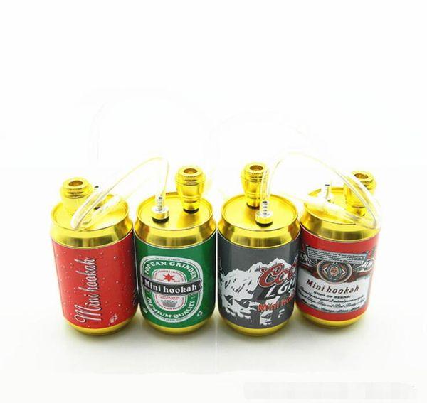 Le più nuove lattine Cola Bottle Shisha Mini Herb Smoking Pipe Tabacco a base di erbe Sigarette Tubi metallici Viaggi Narghilè Molti stile Colorato