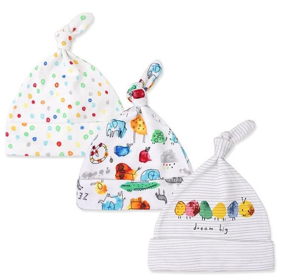 cute fashion kid Baby Hats 100% cotton Printed Baby Hats & Caps For 0-6 Months Newborn Baby Accessories free shipping 2018 new whoesales