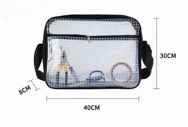 clair sac d'ordinateur de pvc 40cm * 30cm * 8cm sac d'électricité antistatique, ingénieur de salle blanche sac d'outil de PVC livraison gratuite expédier par EMS