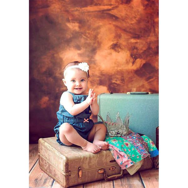 Vintage Brown Background for Studio Photos Digital Painted Baby Newborn Photo Props Wallpaper Kids Children Photography Backdrops Vinyl