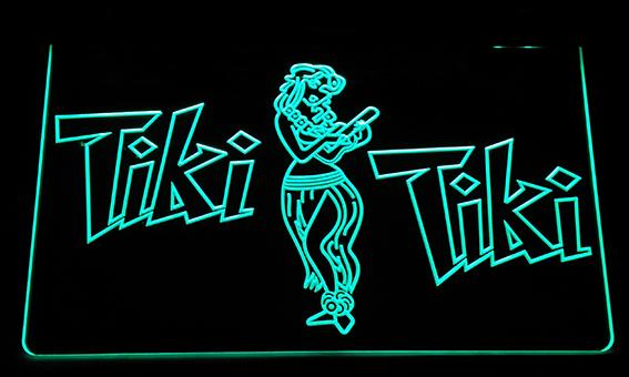 LS162-g Tiki Bar Wajome Hula Dancer Neon Light Sign Decor Free Shipping Dropshipping Wholesale 8 colors to choose