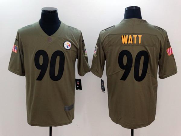cheap for discount fb9b5 1c8b5 2018 2019 New Mens 90 T.J. Watt Pittsburgh Jersey Steelers Football Jerseys  100% Stitched Embroidery Steelers T.J. Watt Color Rush Football Shirt From  ...