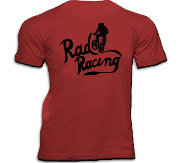 RAD RACING BMX 80s CULT Movie T Shirt Divertente spedizione gratuita Unisex Casual