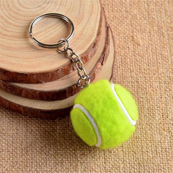 Motion Simulation Tennis Pendant Keychain Man Woman Toys Festival Gifts Handbag Key Buckle Sport Bag Phone Car Keyring Fashion 2bs bb