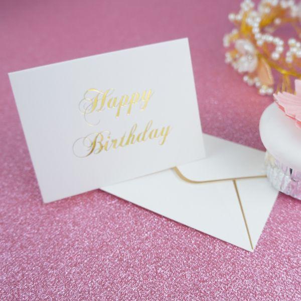 Compre Tarjeta De Felicitación Del Feliz Cumpleaños Del Oro Diseño De La Moda Tarjeta De Felicitación Del Cumpleaños De La Boda De La Tarjeta De