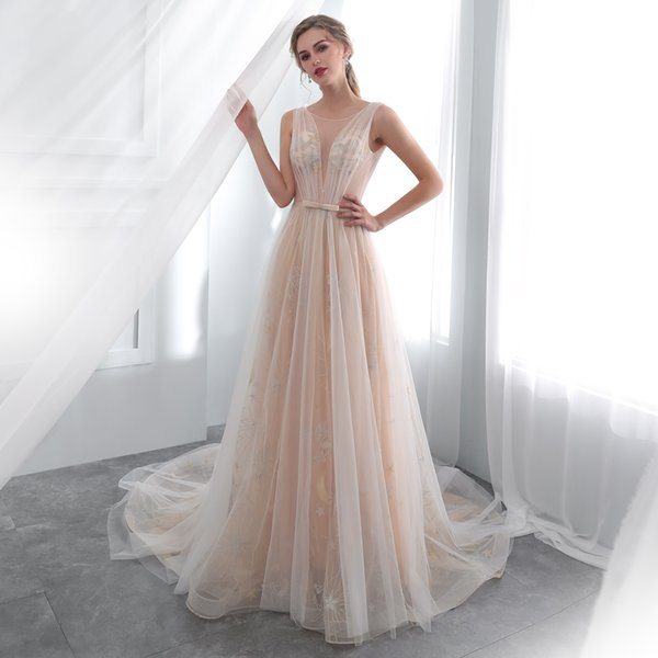 Backless Wedding Dresses New Lace Sexy Wedding Dresses Beach Wedding Dress Backless Illusion Neckline Rob Robe Mariee 23e005 Wedding Dresses For Beach