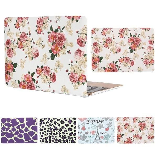 For Macbook Air Pro Retina 11.6 12 13.3 15.4 Flower Leopard Pattern Hard Plastic Protector Laptop PC Case Cover