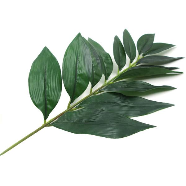 La Foglia Di Bamb.Acquista Artificiale Bambu Laminato Albero Foglia Verde Vegetale Foglia Di Bambu Finto Decorazione Floreale Flore Arrangiamento Decorazione A 0 36