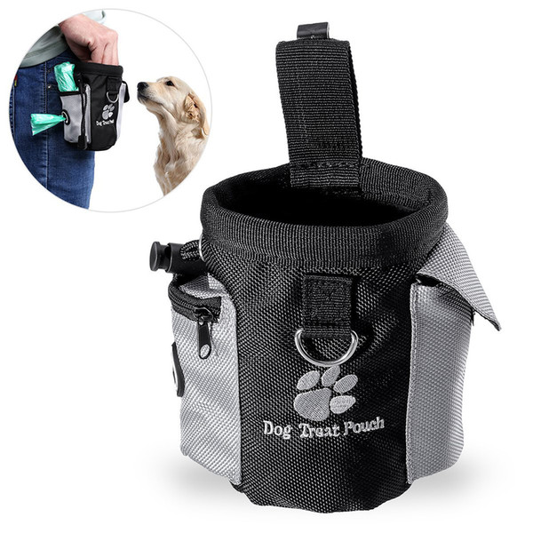 Pet Dog Puppy Snack Bag Waterproof Obedience Hands Free Agility Bait Food Training Treat Pouch Training Tool Dog Pet Supplies